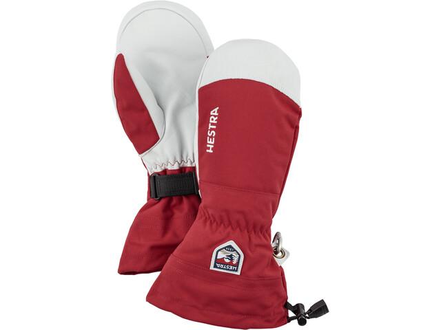 Hestra Army Leather Heli Ski Gants, red